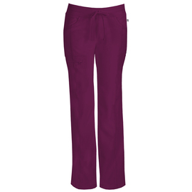 1123A WNPS/ CERTAINTY Pantalón Low-Rise Recto burdeo
